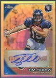 2010 Topps Chrome #C100 Tim Tebow Rookie Refractor Auto #44/50