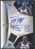 2006/07 SP Game Used #GH Kevin Garnett & Dwight Howard Authentic Fabrics Dual Jersey Auto #46/50