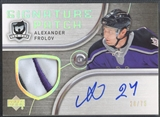 2005/06 The Cup #SPAF Alexander Frolov Signature Patch Auto #28/75