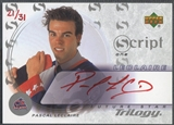 2003/04 Upper Deck Trilogy #S1PL Pascal Leclaire Scripts Red Auto #21/31