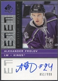 2002/03 SP Authentic #188 Alexander Frolov Rookie Auto #851/999