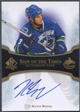 2007/08 SP Authentic #STBI Kevin Bieksa Sign of the Times Auto