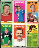 1965 Topps Football Starter Set (127 Different Cards) (89 SP's) (EX+)