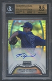 2011 Bowman Sterling Prospect #TGU Taylor Guerrieri Rookie Gold Refractor Auto #44/50 BGS 9.5