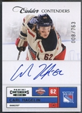 2011/12 Panini Contenders #219 Carl Hagelin Rookie Auto #008/763