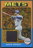 2011 Topps Lineage #DW David Wright 1975 Mini Relics Gold Canary Diamond Refractor Jersey #09/10