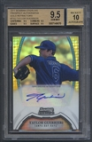 2011 Bowman Sterling Prospect #TGU Taylor Guerrieri Rookie Gold Refractor Auto #02/50 BGS 9.5