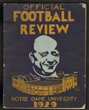 1929 Notre Dame Official Football Review Program