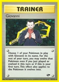 Pokemon Gym Challenge 1st Edition Single Trainer Giovanni 18/132