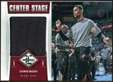 2012/13 Panini Limited Center Stage Materials #12 Chris Bosh 163/199