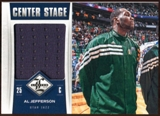 2012/13 Panini Limited Center Stage Materials #47 Al Jefferson /199
