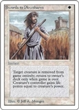 Magic the Gathering Unlimited Single Swords to Plowshares UNPLAYED (NM/MT)