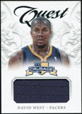 2012/13 Panini Crusade Quest Memorabilia #52 David West