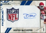 2010 Panini Rookies and Stars Rookie Patch Autographs Blue NFL Logo #267 Dexter McCluster /22
