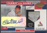 2002 Leaf Certified #FG17 Stan Musial Fabric of the Game Patch Auto #3/5