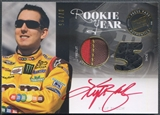 2012 Press Pass Redline #RYKYB Kyle Busch Rookie Year Gold Firesuit Shoe Auto #07/25