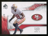 2009 Upper Deck SP Authentic #231 Curtis Taylor RC /999
