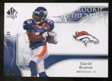 2009 Upper Deck SP Authentic #236 David Bruton RC /999