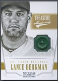 2012 Panini National Treasures #40 Lance Berkman Treasure Materials Prime Button #6/6
