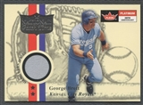 2001 Fleer Platinum #7 George Brett National Patch Time Jersey