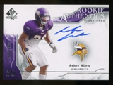 2009 Upper Deck SP Authentic #301 Asher Allen Autograph /999