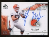2009 Upper Deck SP Authentic #303 Alex Mack RC Autograph /999