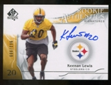 2009 Upper Deck SP Authentic #318 Keenan Lewis RC Autograph /999