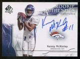 2009 Upper Deck SP Authentic #319 Kenny McKinley RC Autograph /999