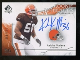 2009 Upper Deck SP Authentic #368 Kaluka Maiava Autograph /999