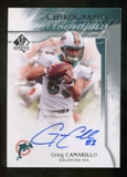 2009 Upper Deck SP Authentic Chirography #CHGC Greg Camarillo Autograph