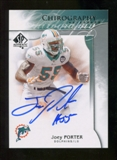 2009 Upper Deck SP Authentic Chirography #CHJP Joey Porter Autograph