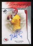 2009 Upper Deck SP Authentic Chirography #CHMC Matt Cassel Autograph
