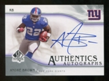 2009 Upper Deck SP Authentic Autographs #SPAB Andre Brown Autograph