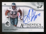 2009 Upper Deck SP Authentic Autographs #SPAN Shawn Andrews Autograph