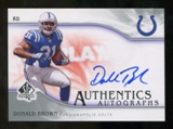 2009 Upper Deck SP Authentic Autographs #SPDB Donald Brown Autograph
