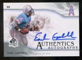 2009 Upper Deck SP Authentic Autographs #SPEC Earl Campbell Autograph