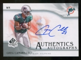 2009 Upper Deck SP Authentic Autographs #SPGC Greg Camarillo Autograph