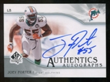 2009 Upper Deck SP Authentic Autographs #SPJP Joey Porter Autograph