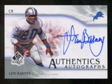 2009 Upper Deck SP Authentic Autographs #SPLB Lem Barney Autograph