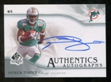 2009 Upper Deck SP Authentic Autographs #SPPT Patrick Turner Autograph