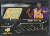 2008/09 UD Black #50AUWO James Worthy 50 Greatest Auto #10/50