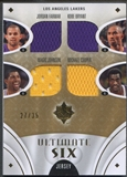 2008/09 Ultimate Collection #USLSHO Kobe Bryant Jerry West Cooper Odom Magic Johnson Farmar Jersey #27/35