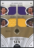 2008/09 Ultimate Collection #USLSHO Kobe Bryant Jerry West Cooper Odom Magic Johnson Farmar Jersey #20/35