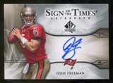 2009 Upper Deck SP Authentic Sign of the Times #STJF Josh Freeman Autograph