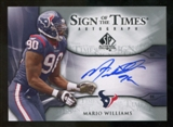 2009 Upper Deck SP Authentic Sign of the Times #STMW Mario Williams Autograph