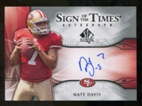 2009 Upper Deck SP Authentic Sign of the Times #STND Nate Davis Autograph