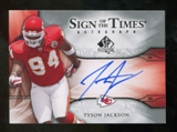 2009 Upper Deck SP Authentic Sign of the Times #STTJ Tyson Jackson Autograph