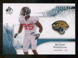 2009 Upper Deck SP Authentic #206 William Middleton RC /999