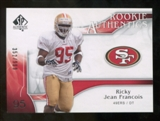 2009 Upper Deck SP Authentic #226 Ricky Jean-Francois /999