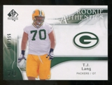2009 Upper Deck SP Authentic #241 T.J. Lang RC /999
